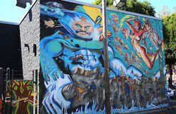 Murals of Balmy Alley, San Francisco, California, USA Royalty Free Stock Photography