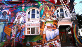 Murals of Balmy Alley, San Francisco, California, USA Stock Photo
