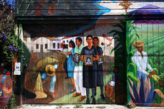 Murals of Balmy Alley, San Francisco, California, USA Royalty Free Stock Photos