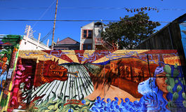 Murals of Balmy Alley, San Francisco, California, USA Stock Image