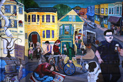 Murals of Balmy Alley, San Francisco, California, USA Stock Images
