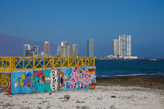 Murals on the Beach Royalty Free Stock Photos