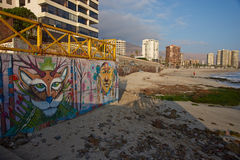 Murals on the Beach Royalty Free Stock Photography