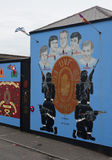 Murals in Belfast. Murals in Northern Ireland have become symbols of Northern Ireland, depicting the region's past and present political and religious divisions royalty free stock photo