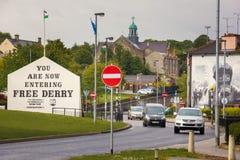Murals. Derry Londonderry. Northern Ireland. United Kingdom. Murals in the Bogside. Derry Londonderry. Northern Ireland. United Kingdom Stock Photo