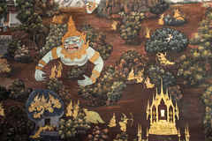 Murals in Buddhist temples. At Thailand Royalty Free Stock Image