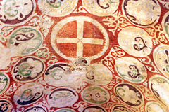Murals on the ceiling of the church of St. Nicholas, Demre, Turkey Royalty Free Stock Photo
