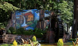 Murals of Chemainus, Canada royalty free stock photography