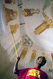 Murals on a church wall, Ethiopia Royalty Free Stock Images