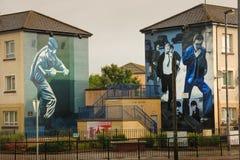 murals Derry Londonderry L'Irlanda del Nord Il Regno Unito fotografia stock