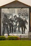 murals Derry Londonderry L'Irlanda del Nord Il Regno Unito Immagine Stock Libera da Diritti
