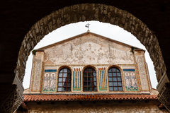 Murals of the Euphrasian Church in Porec Stock Photography