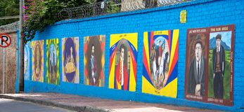 Murals of history in Bogota Colombia Royalty Free Stock Photography