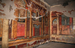 Murals In The Roman Villa Poppaea, Italy Royalty Free Stock Photos