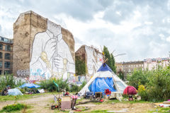 Murals in Kreuzberg, Berlin Stock Photos