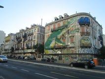 Murals in Lisbon. Murals, build, art, Street Royalty Free Stock Photos