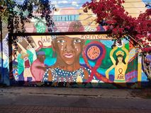 Murals In Mission District, San Francisco stock photos