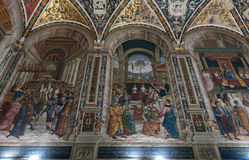 Murals in the old church Royalty Free Stock Photography
