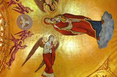 Murals in an orthodox church Royalty Free Stock Images