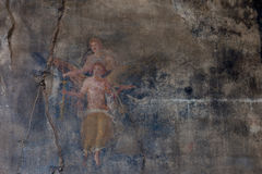 Murals in Pompeii. Royalty Free Stock Photography