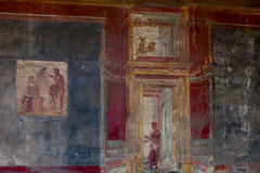 Murals in Pompeii. Royalty Free Stock Images