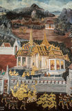Murals Ramayana. In Buddhist temples at Thailand Royalty Free Stock Photos