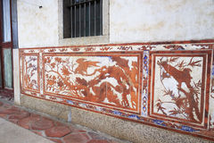 Murals relief of liantang villa Royalty Free Stock Images