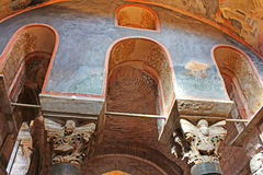 Murals under the dome in the Church of the Holy Savior Outside the Wall, Istanbul, Turkey Royalty Free Stock Photo