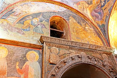 Murals under the dome in the Church of the Holy Savior Outside the Walls royalty free stock image