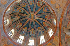 Murals under the dome in the Church of the Holy Savior Outside the Walls. stock photography