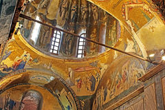 Murals under the dome in the Church of the Holy Savior Outside the Walls. stock photos