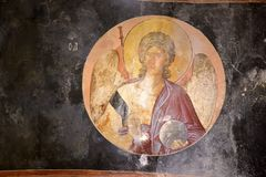 Murals under the dome in the Church of the Holy Savior Outside the Walls. Second name of it now is The Kariye Museum in Istanbul,. Turkey, Istanbul 14,03,2018 royalty free stock image