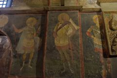Murals under the dome in the Church of the Holy Savior Outside the Walls. Second name of it now is The Kariye Museum in Istanbul,. Turkey, Istanbul 14,03,2018 stock photos