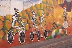 Murals of Valparaiso stock image