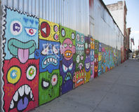 Murals wall at East Williamsburg neighborhood in Brooklyn Royalty Free Stock Image