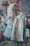 Murals wall painting in Fonni, Sardinia, Italy Royalty Free Stock Photos