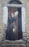 Murals wall painting in Fonni, Sardinia, Italy Stock Photo