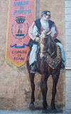 Murals wall painting in Fonni, Sardinia, Italy Royalty Free Stock Image