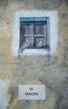 Murals wall painting in Fonni, Sardinia, Italy Royalty Free Stock Photography