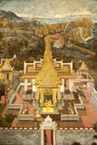Murals at Wat Phra Kaew Stock Photography