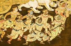 Murals in Wat Phra Kaew,Bangkok,Thailand. Stock Image