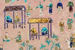 Murals of wat xieng thong Stock Photography