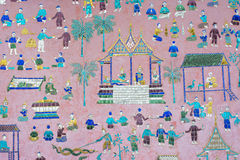 Murals of wat xieng thong Stock Images