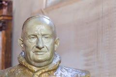 Murano威尼斯,意大利- 2016年10月29日:胸象圣约翰XXIII教皇 库存照片