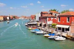 Murano海岛在威尼斯式盐水湖,意大利 免版税图库摄影