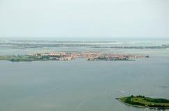 Murano海岛,威尼斯,鸟瞰图 免版税库存照片