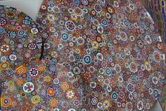 Murano玻璃纹理背景 抽象五颜六色的模式 免版税库存照片
