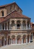 Murano,意大利圣玛丽亚e多纳托教会的东边  库存图片