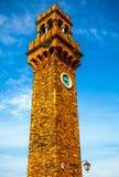 MURANO,意大利- 2016年8月19日:著名建筑纪念碑和老中世纪大厦特写镜头五颜六色的门面  库存照片