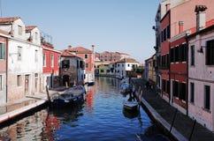 Murano Murano è una serie di isole collegate dai ponti nella laguna veneziana, Italia del Nord fotografia stock